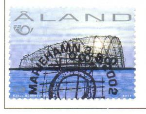 Aland Finland Sc 205 2002 Sculpture by Lindfors stamp used