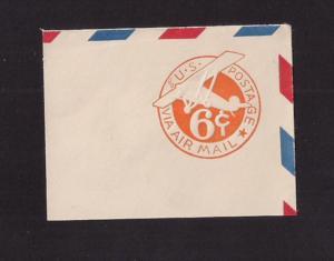 6c Airmail: cut square #UC3 Border D Mint Ample full corner Nice!