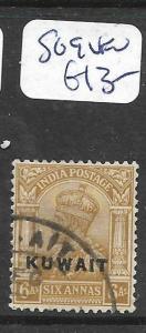 KUWAIT (P01003B)  ON INDIA KGVI  6A   SG 10  VFU