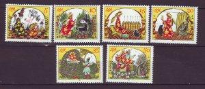 J24510 JLstamps 1984 germany DDR set mnh #2451a-f fairytale