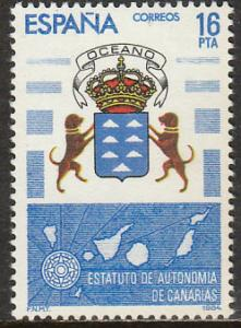 SPAIN 2372, CANARY ISLANDS AUTONOMOUS STATUTE. MINT, NH. F-VF. (173)