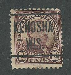 1923 USA Kenosha, Wis.  Precancel on Scott Catalog Number 564