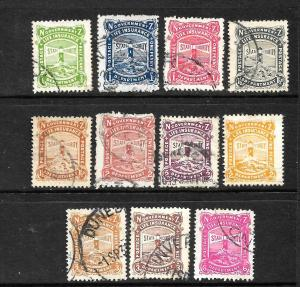 NEW ZEALAND 1905  GOVERNMENT LIFE  SET 11   FU