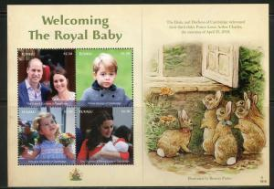 TUVALU  2018 WELCOMING THE  ROYAL BABY PRINCE LOUIS SHEET  MINT NH