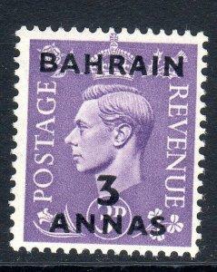BAHRAIN--1948-49    SG 56       3a on 3d   mnh um