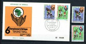 1971 - Senegal - African Basketball Championships, Dakar- FDC+ Set 2v.MNH**
