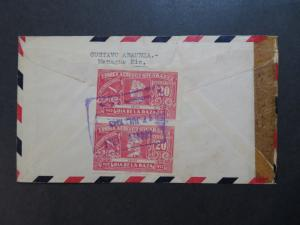 Nicaragua 1943 Censor Airmail Cover to USA - Z8350