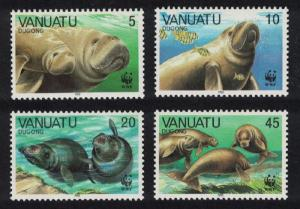Vanuatu WWF Dugong 4v SG#492-495 MI#782-785 SC#470-473