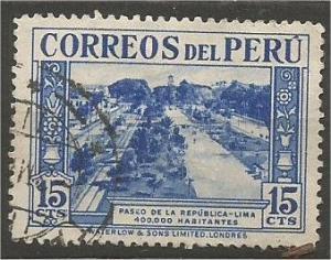 PERU, 1937, used 15c Avenue, Scott 363