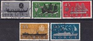 Norway #382-6 F-VF Used CV $7.00 (Z9035)
