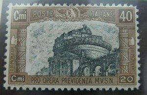 Italia Kingdom of Italy 1926 Pro Opera Militia 40c fine MH* A16P23F249