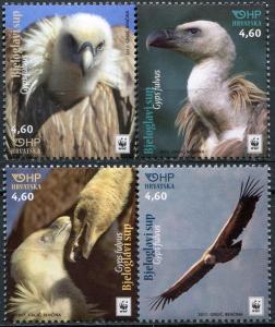 Croatia 2017. Eurasian Griffon (MNH OG) Set of 4 stamps