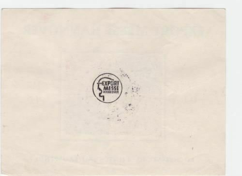 Germany 1948 Hanover Export Fair  stamps sheet  R20605