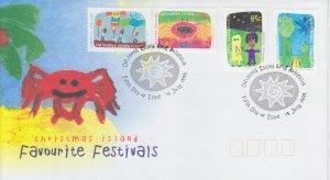 1999 Christmas Island Festivals  (Scott 418-21) FDC