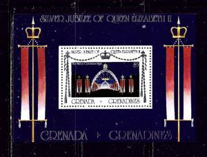 Grenada-Grenadines 216 MNH 1977 QEII Silver Jubilee S/S
