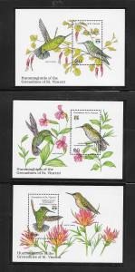 BIRDS - ST VINCENT GRENADINES #909-911-HUMMINGBIRDS  MNH