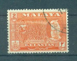 Malaya - Kelantan sc# 73 used cat value $1.40