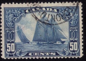 CANADA Sc #158  Used BLUE NOSECLOSED-UP TEAR LF-VF
