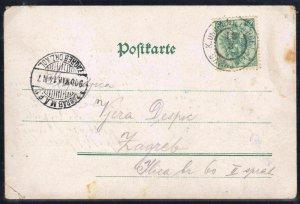 ÖSTERREICH BOSNIEN 1900. POSTKARTE 3 Kreuzer für 5 heller INTERSTING