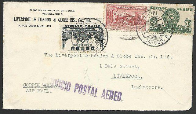 MEXICO 1938 airmail cover to UK............................................49214