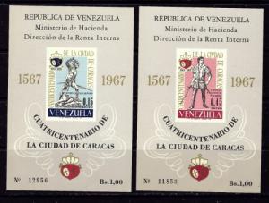 Venezuela C952a-53a NH 1967 S/S see footnore in Scott