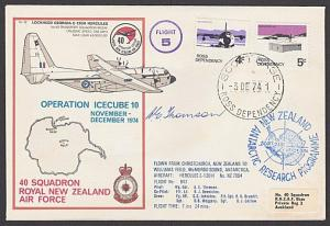 NEW ZEALAND ANTARCTIC 1978 RNZAF signed flight cover ex Scott Base.........27807