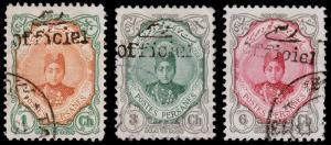 Persia Scott 501, 503-504 (1911) Used H F-VF, CV $30.00