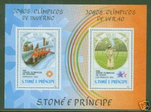 St Thomas & Prince Scott 726 MNH** LA Olympic sheet