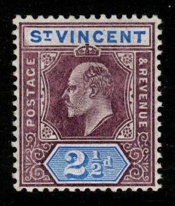 ST.VINCENT SG88 1906 2½d DULL PURPLE & BLUE MTD MINT