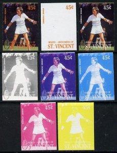 St Vincent - Bequia 1988 International Tennis Players 45c...