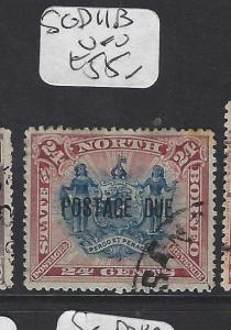 NORTH BORNEO (P1512B) 24C ARMS, LION    POSTAGE DUE SG D11B    VFU