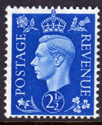 GB KGVI 1937 2.5d Ultramarine SG466 Mint Never Hinged MNH UMM