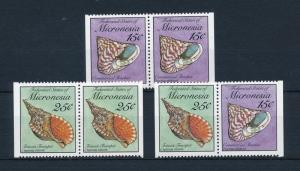 [52024] Micronesia 1990 Marine life Sea shells from booklet MNH