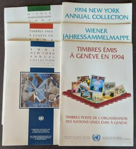 EDW1949SELL : U.N. 1993-1994 Year sets from all 3 Offices in Official books.