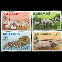 BAHAMAS 1981 - Scott# 500-3 World Food Day Set of 4 NH