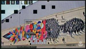 HERRICKSTAMP NEW ISSUES SPAIN Sc.# 4147 Murals in Madrid Souvenir Sheet