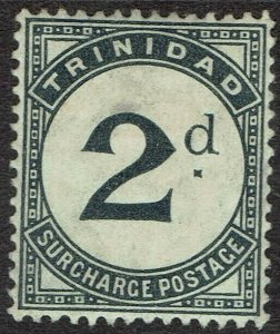 TRINIDAD 1905 POSTAGE DUE 2D WMK MULTI CROWN CA
