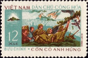 Vietnam 1966 MNH Stamps Scott 425 War Ships Airplanes Army Defending of Island