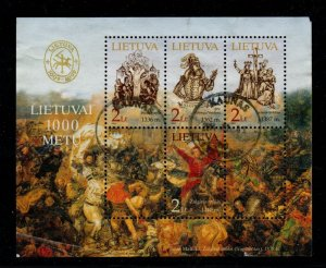 Lithuania Sc 726 2002 1000th Anniversary stamp sheet used