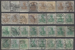 COLLECTION LOT OF #1187 GERMANY 32 GERMANIA STAMPS 1902+ CLEARANCE CV + $31