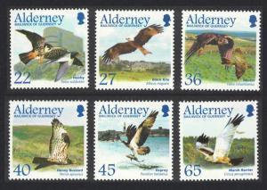 Alderney Migrating Birds 1st series Raptors 6v SG#A185-90