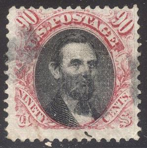 U.S. #122 SCARCE Used - 1869 90c Pictorial