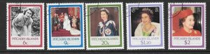 PITCAIRN ISLANDS SG285/9 1986 60th BIRTHDAY OF QUEEN ELIZABETH FINE USED