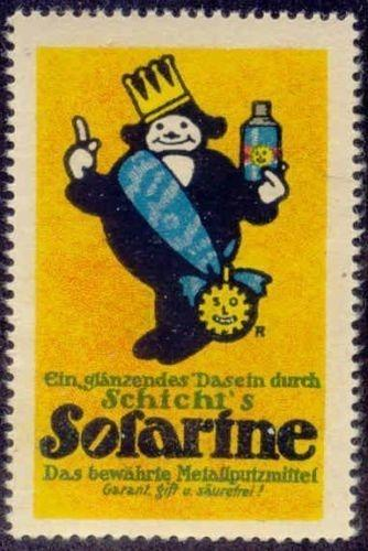 Solarine Metal Polish Advertising Poster Stamp