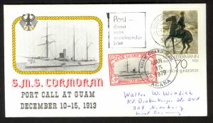 GERMANY 1978 / GUAM GUARD MAIL LOCAL 1979 Combo Cover and Returned