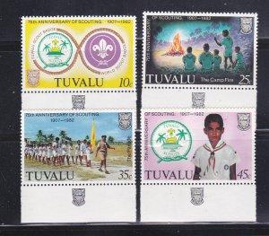 Tuvalu 176-179 Set MNH Scouts