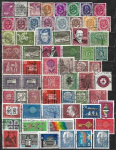 COLLECTION LOT OF 64 GERMANY 1947+ STAMPS