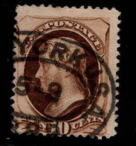 USA Scott 150 used 1870 10c stamp