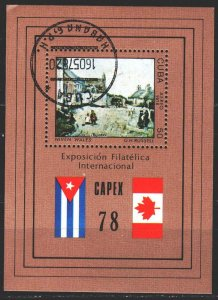 Cuba. 1978. bl54. Painting, paintings. USED.