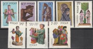 Poland #1705-10, B118-9   MNH CV $2.65 (S8704)